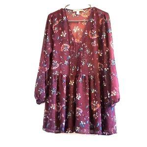 Forever 21 sheer tunic dress, size S